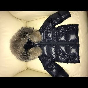 Moncler baby coat with fur